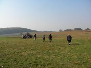 Za drugim fragmentima križevačkog meteorita tragalo se još i u jesen 2011. prije jesenskog oranja (foto: R.Matić))